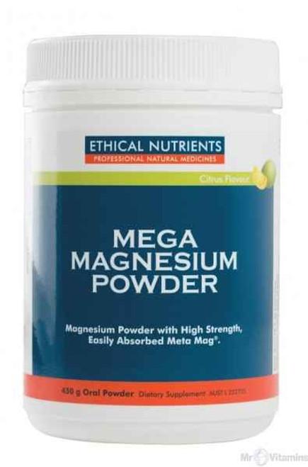 Ethical Nutrients Mega Magnesium Powder 450g Citrus Flavour Ethical Nutrients SuperPharmacyPlus