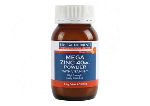 Ethical Nutrients MEGAZORB Mega Zinc 40mg Powder Orange 95g Ethical Nutrients SuperPharmacyPlus