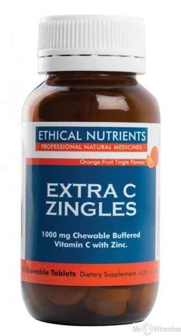 Ethical Nutrients Immuzorb Extra C Zingles Orange 50 Tablets Ethical Nutrients SuperPharmacyPlus