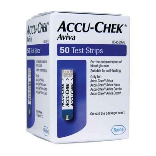 Accu-Chek Aviva Glucose Test Strips 50 Strips Accu-Chek SuperPharmacyPlus