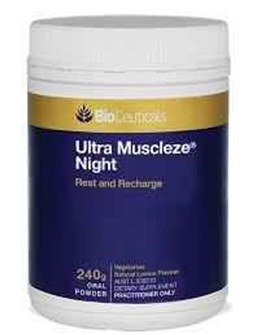 Bioceuticals Ultra Muscleze Night Powder 240g BioCeuticals SuperPharmacyPlus