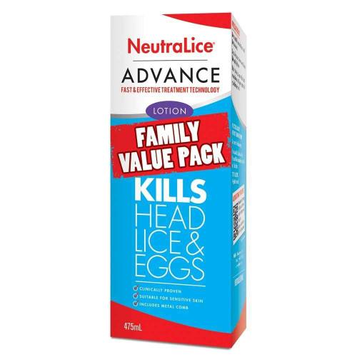 NeutraLice Advance Lotion Family Value Pack 475mL NeutraLice SuperPharmacyPlus