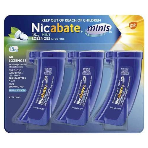 Nicabate Mini 1.5mg 60 Lozenges Nicabate SuperPharmacyPlus