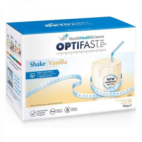 Optifast VLCD Vanilla Shake 18 x 53g Sachets Nestle Health Science SuperPharmacyPlus