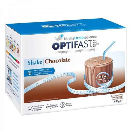 Optifast VLCD Chocolate Shake 18 x 53g Sachets Nestle Health Science SuperPharmacyPlus