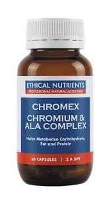 Ethical Nutrients Chromex Chromium ALA Complex 60 Vegecaps Ethical Nutrients SuperPharmacyPlus