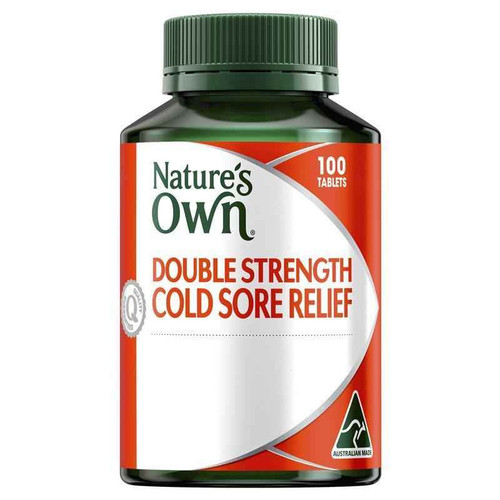 Natures Own Double Strength Cold Sore Relief L-Lysine 1000mg 100 Tablets Natures Own SuperPharmacyPlus