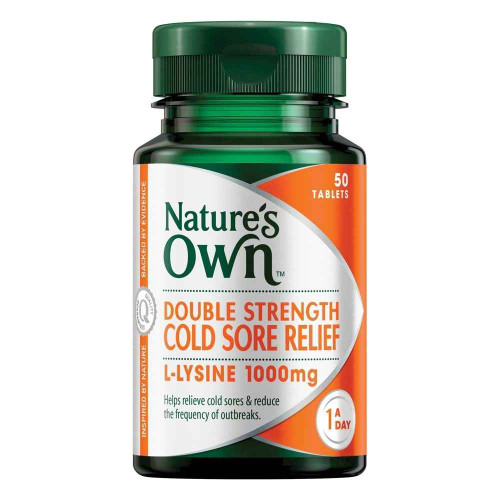 Natures Own Double Strength Cold Sore Relief 50 Tablets Natures Own SuperPharmacyPlus