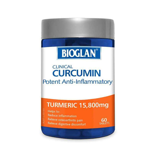 Bioglan Clinical Curcumin Tumeric 15800mg 60 Capsules Bioglan SuperPharmacyPlus