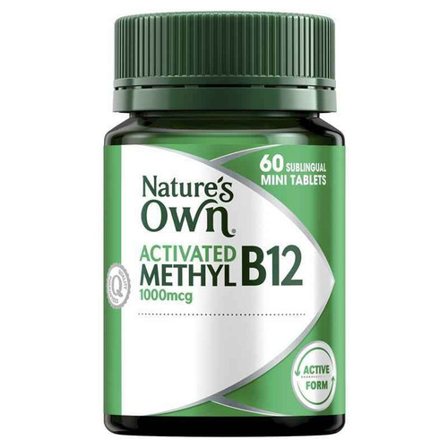 Natures Own Activated Methyl B12 60 Tablets Natures Own SuperPharmacyPlus