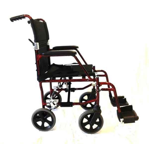 18 Ultra Light Wheelchair 8kg with fixed armrests Redgum SuperPharmacyPlus