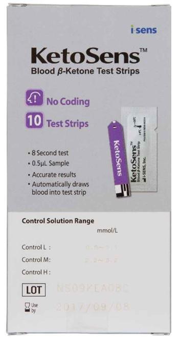 Ketosens Caresens Dual Blood Ketone Test Strip 10 Test Strips CareSens SuperPharmacyPlus