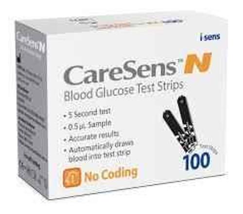 Caresens N Blood Glucose Test Strips - 100 i-SENS Inc SuperPharmacyPlus