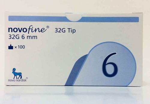 Novofine 32G 6mm Pen Needles x 100 Novo Nordisk Pharmaceuticals SuperPharmacyPlus