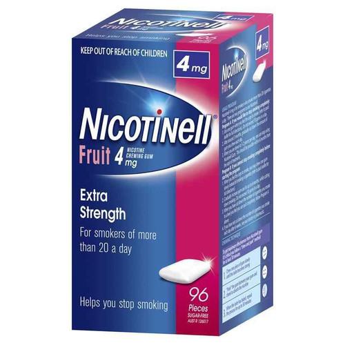 Nicotinell Chewing Gum 4mg Fruit 96 Pieces Perrigo Australia SuperPharmacyPlus