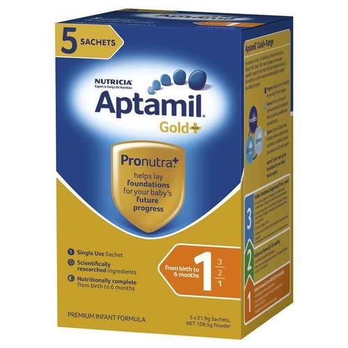 Aptamil Gold Pronutra Infant Sachet 5x21g Karicare SuperPharmacyPlus