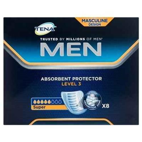 Tena Men Absorbent Protector Pad Level 3 x 8 Tena SuperPharmacyPlus