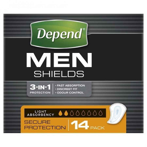 Depend for Men Shields Incontinence Pads - 14 Pack Depend SuperPharmacyPlus
