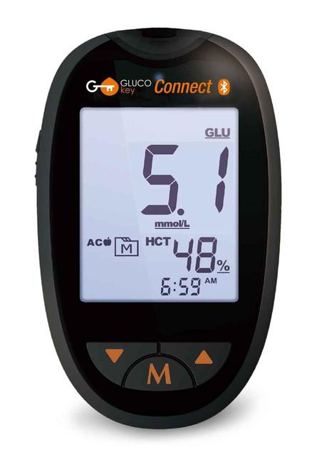 GlucoKey Connect Bluetooth Blood Glucose and Ketone Monitor Nipro SuperPharmacyPlus
