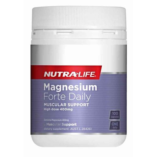 Nutra-Life Magnesium Forte Daily 100 Capsules NUTRALIFE SuperPharmacyPlus