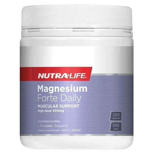 Nutra-Life Magnesium Forte Daily 200 Capsules NUTRALIFE SuperPharmacyPlus
