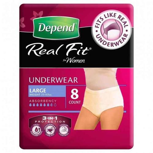Depend Real Fit Underwear 8 Pack Depend SuperPharmacyPlus