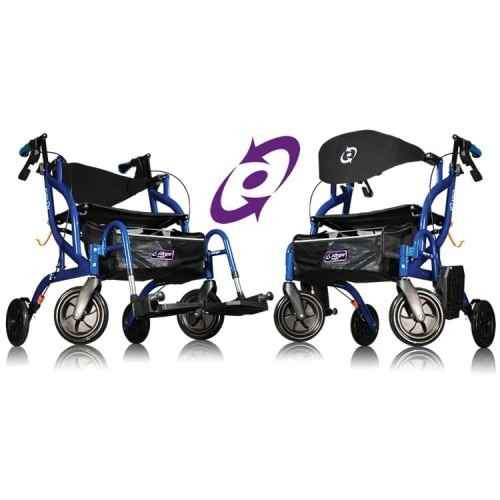 Airgo Fusion 2 in 1 Side Folding Rollator and Transport Wheelchair Airgo SuperPharmacyPlus
