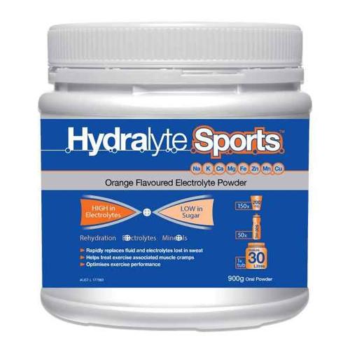Hydralyte Sports Orange Powder 900g Care Pharmaceuticals SuperPharmacyPlus
