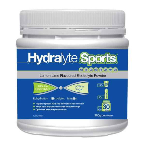 Hydralyte Sports Lemon Lime Powder 900g Care Pharmaceuticals SuperPharmacyPlus