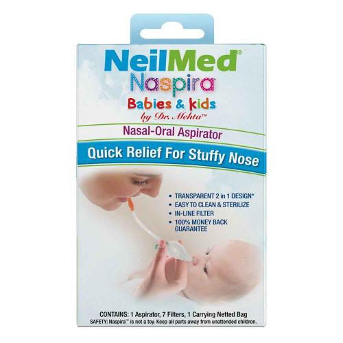 NeilMed Naspira Nasal-Oral Aspirator Kit NeilMed SuperPharmacyPlus