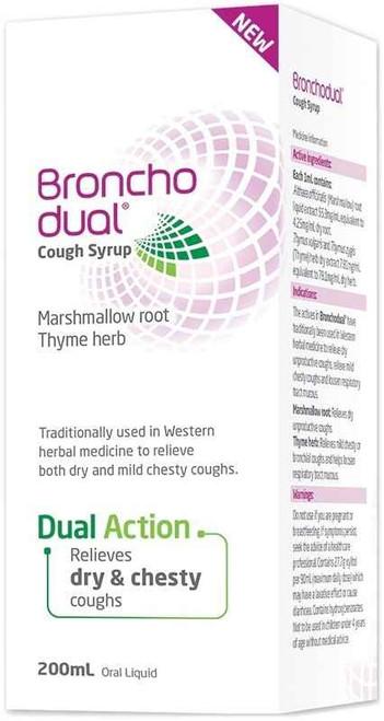 Bronchodual Cough Syrup 200ml Perrigo Australia SuperPharmacyPlus