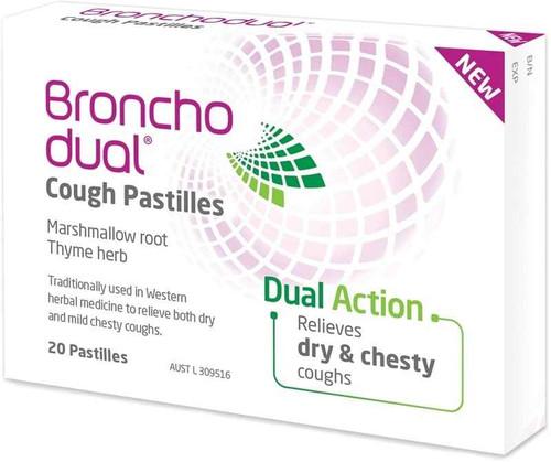Bronchodual 20 Cough Pastilles Perrigo Australia SuperPharmacyPlus