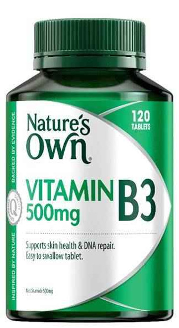 Natures Own Vitamin B3 Nicotinamide 500mg Tablets 120 Natures Own SuperPharmacyPlus