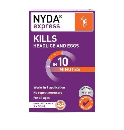 Brauer NYDA Express Head Lice Treatment Family Pack 50ml X 2 Brauer SuperPharmacyPlus