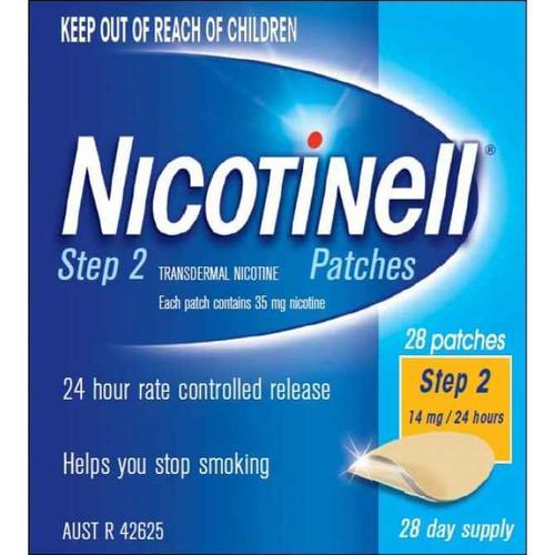Nicotinell Step 2 Patch 14mg 28 Patches Perrigo Australia SuperPharmacyPlus