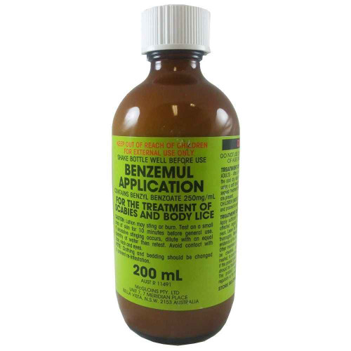 Benzemul Application for Scabies and Body Lice 200ml McGloins SuperPharmacyPlus