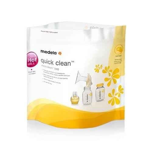 Medela Breastmilk Microwave Bags Quick Clean 5pk Medela SuperPharmacyPlus