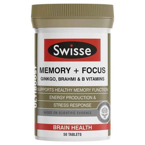 Swisse Ultiboost Memory Focus 50 Tablets Swisse SuperPharmacyPlus