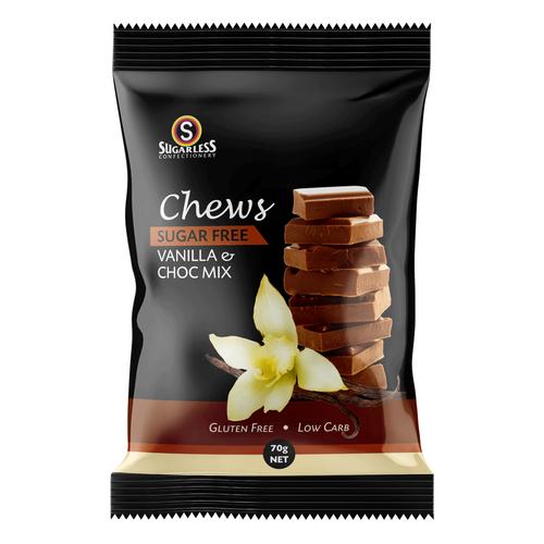 Sugarless Vanilla Chocolate Mix Chews 70g Sugarless SuperPharmacyPlus