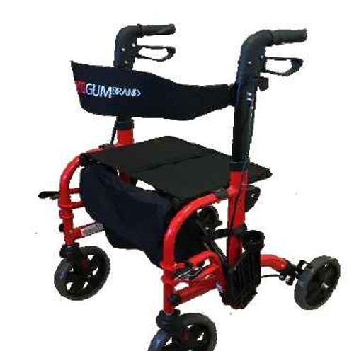 2-in-1 Wheelchair Seat Walker Crossover Transit Chair Walker Redgum SuperPharmacyPlus