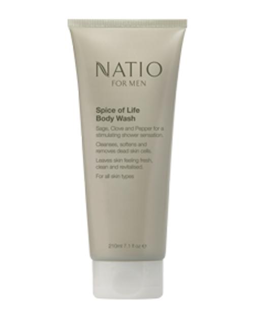 Natio Mens Spice of Life Body Wash 210ml Natio SuperPharmacyPlus