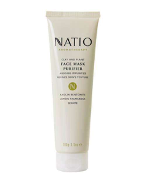 Natio Clay and Plant Face Mask Purifier 100g Natio SuperPharmacyPlus
