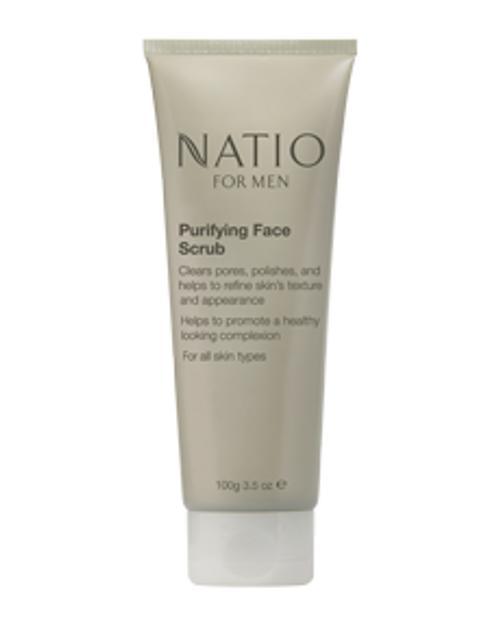 Natio Mens Purifying Face Scrub 100g Natio SuperPharmacyPlus
