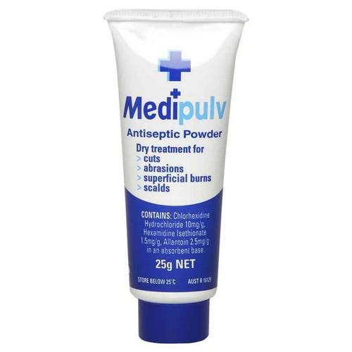 Medipulv Antiseptic Powder 25g PharmaCare Laboratories Pty Ltd SuperPharmacyPlus