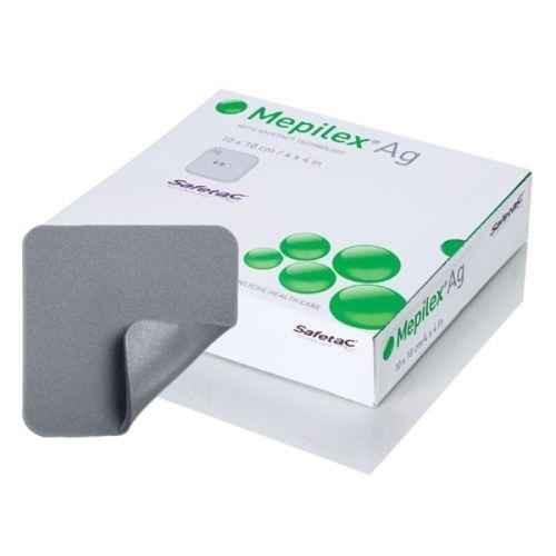 Mepilex Ag 287110 10cm X 10cm Dressing 5 Pack Molnlycke SuperPharmacyPlus