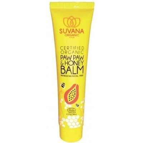 Suvana Certified Organic Paw Paw and Honey Balm 25g Suvana Beauty SuperPharmacyPlus
