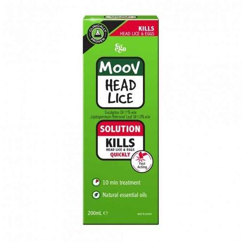 Ego MOOV Head Lice Treatment Solution 200ml Ego Pharmaceuticals SuperPharmacyPlus
