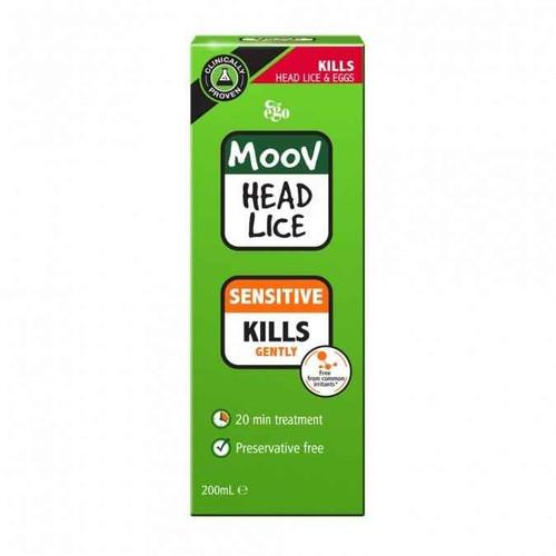 Ego MOOV Sensitive Head Lice 200ml Ego Pharmaceuticals SuperPharmacyPlus