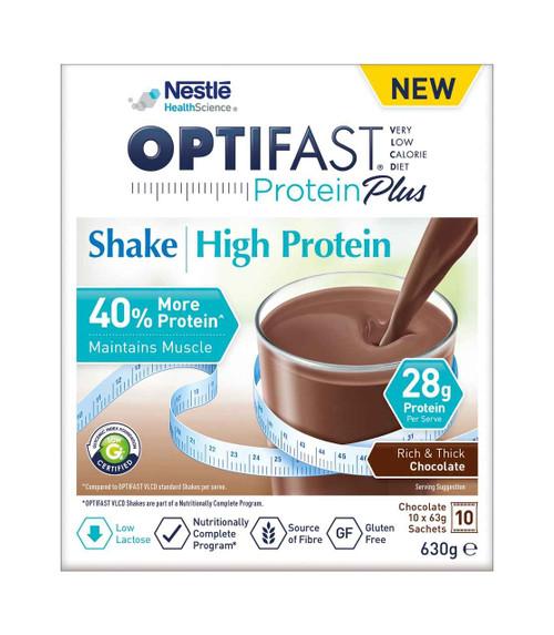 Optifast VLCD ProteinPlus Shake Chocolate 63g x 10 Nestle Health Science SuperPharmacyPlus