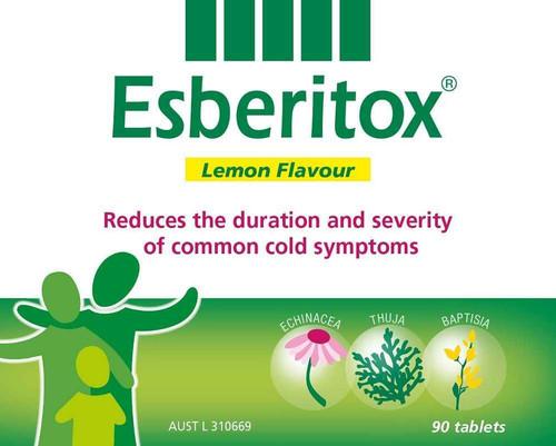Esberitox Lemon 90 Chewable Tablets Esberitox SuperPharmacyPlus